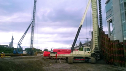 First Llamada P240TT CFA and DTH machine in Finland located at Tripla worksite